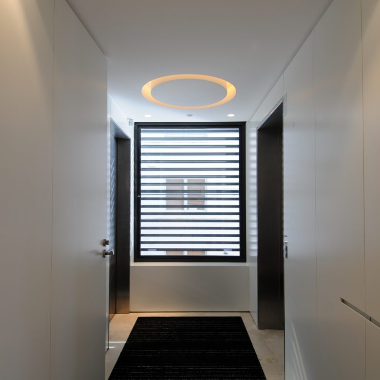 Custom made Light and wall panelling