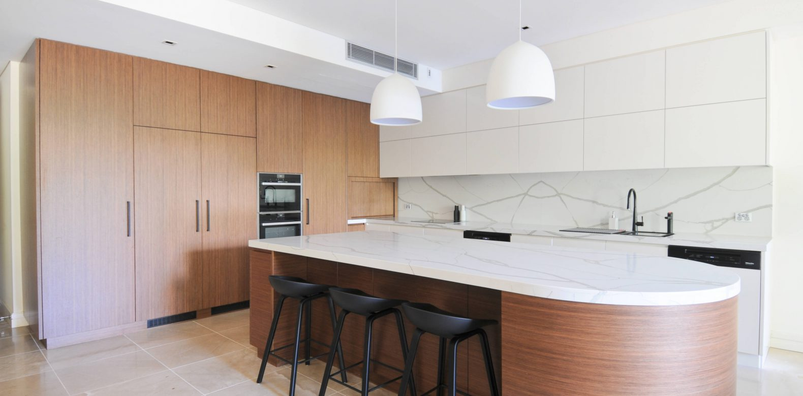 Kitchen with marble premium bench top