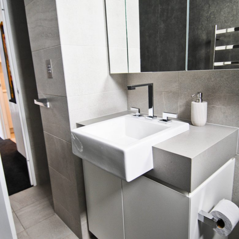 Custom designed compact bathroom
