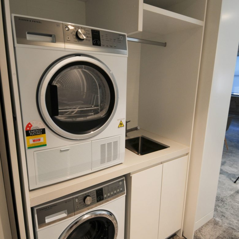 Laundry pocket doors