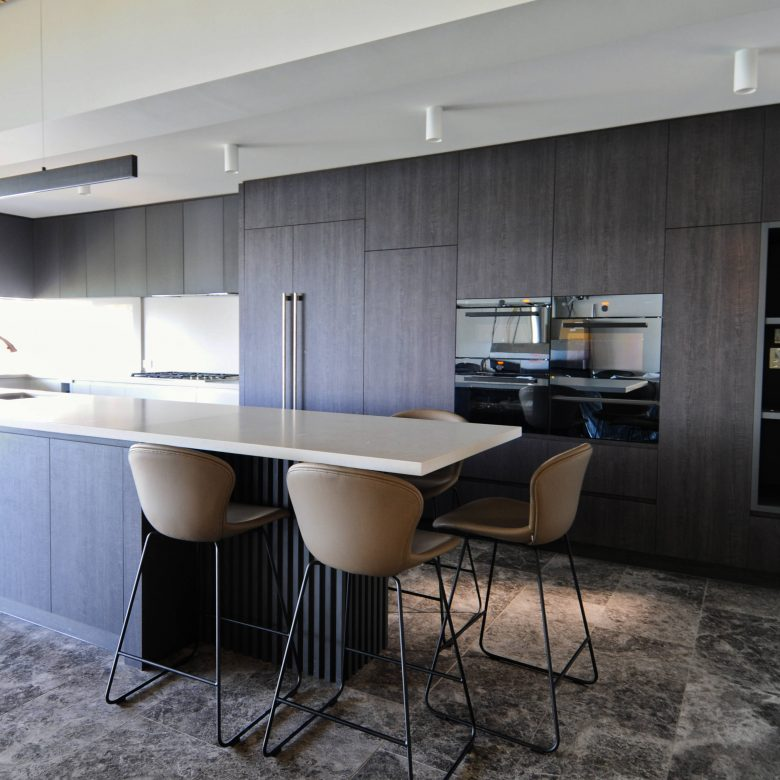 Custom made kitchen including kitchen cabinets