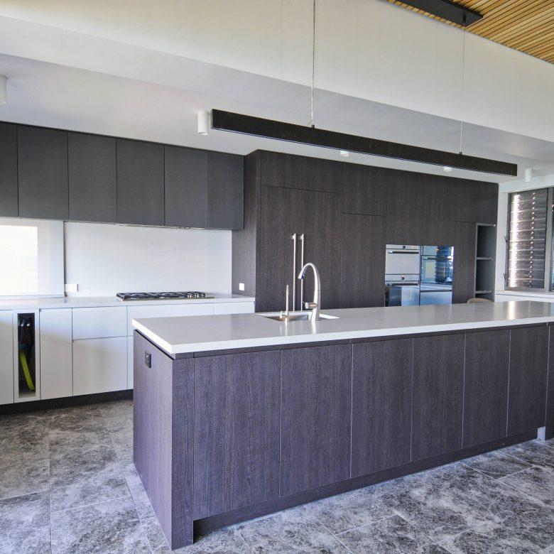 Area shot of custom made kitchen island